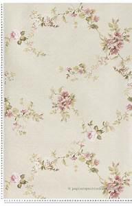 Papier Peint Fleuri Vintage : fleurs roses fond beige papier peint lut ce j 39 aime wallpaper pinterest fond beige ~ Melissatoandfro.com Idées de Décoration