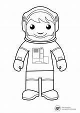 Astronaut Coloring Dessin Space Printable Astronaute Suit Template Facile Outline Sheets Colorir Astronauts Preschoolers Coloriage Imprimer Desenhos Helpers Renkli Yazdırılabilir sketch template