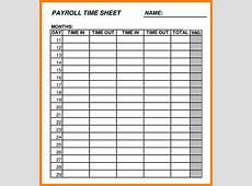 6+ payroll sheets template Samples Of Paystubs