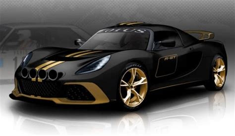 Lotus Exige R-gt Black And Gold Sports Car