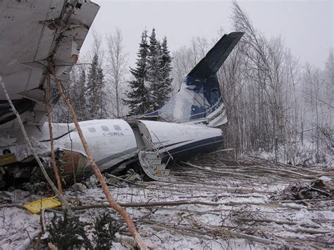 Plane That Crashed In Fond Du Lac, Sask Left Path Of