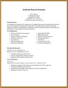 undergraduate resume exles no experience exles of resumes resume simple objective inside 87