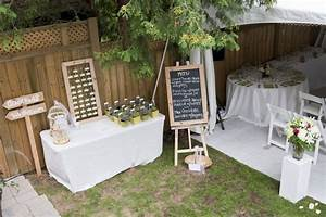 Small backyard wedding has similar layout to our for Small backyard wedding ideas