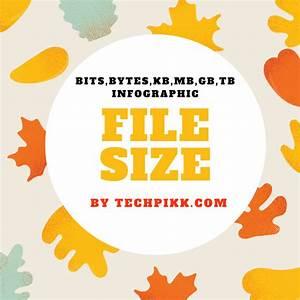 File Size Chart Bits Bytes Kb Mb Gb Tb Infographic