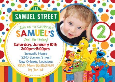 sesame street birthday invitations bagvania