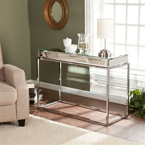 Slim Entryway Table by Mirrored Sofa Console Table Glam