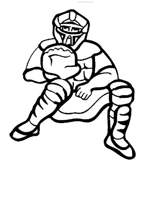 baseball catcher coloring page  print