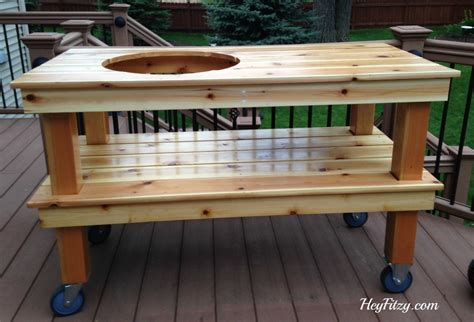 how to seal wood table the big green egg diy table hey fitzy