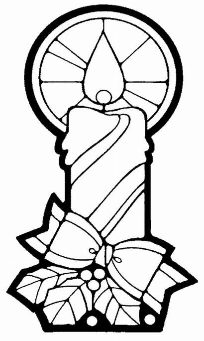 Coloring Pages Candles Church Candle Cartoon