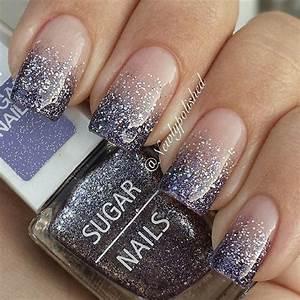 60 Glitter Nail Art Designs | Silver glitter nails ...