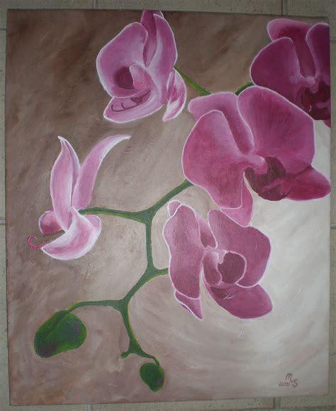 orchidee stillleben blumen malerei pflanzen von