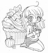 Chibi Coloring Pages Yampuff Cupcake Spice Deviantart Printable Drawing Pumpkin Drawings Cupcakes Adult Anime Colouring Disney Coloriage Shortcake Manga Dessin sketch template