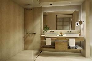 Salle De Bain En Bois : beautiful salle de bain nature pierre contemporary ~ Dailycaller-alerts.com Idées de Décoration