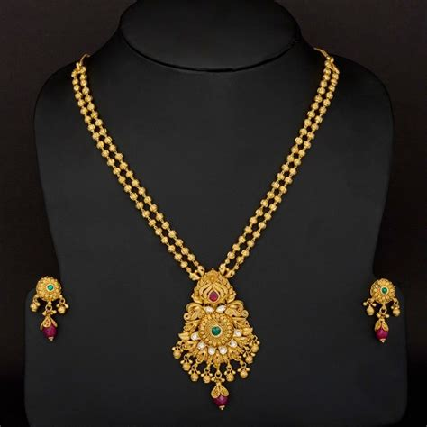 traditional two layer gundla haram design jewellery designs haram in 2019