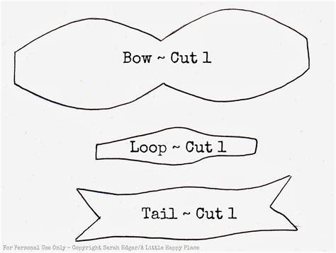 felt bow template a happy place a pretty felt bow brooch tutorial