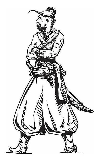 Cossack Kameez Salwar Vector Illustration Clip Zaporozhian