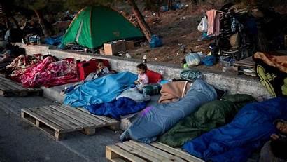 Moria Lesbos Greece Camp Refugiados Sind Migrants