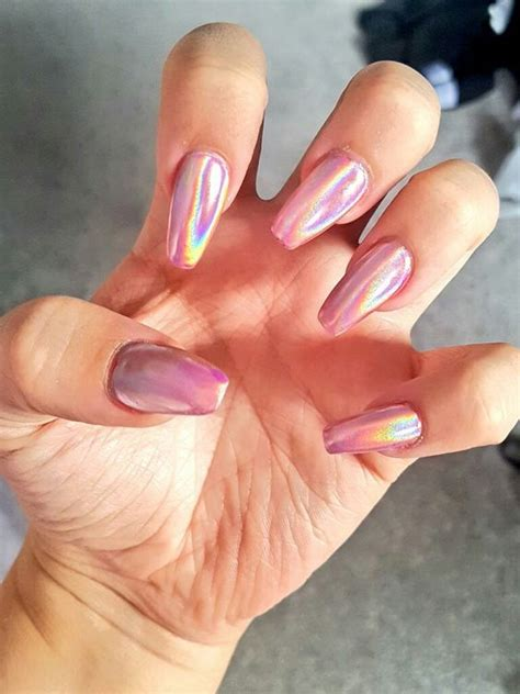 pink holographic nails pictures   images