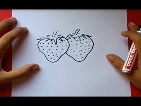 como dibujar unas fresas paso  paso   draw