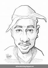 Caricature Sketch Tupac 2pac Drawing Coloring Shakur Wilsonsketchblog Template Larger Credit Trending Days Last sketch template