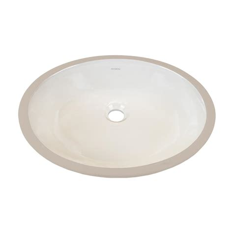 ronbow essentials oval undercounter ceramic vessel sink in