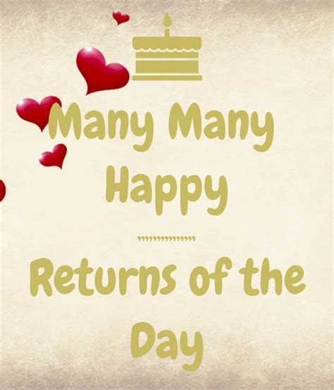 Many Happy Returns by Many Many Happy Returns Of The Day Poster
