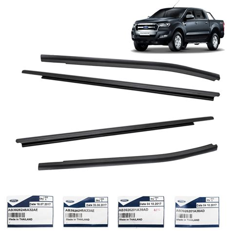 Window Sill Liner by Black Genuine Window Sill Line Rubber For Ford Ranger T6