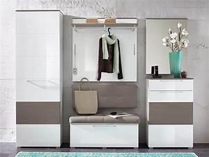 Moderne Garderobe Mit Bank : rene garderoben kombination weiss hochglanz weiss hg grau ~ Bigdaddyawards.com Haus und Dekorationen