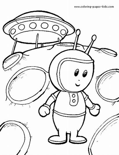 Coloring Alien Pages Space Aliens Spaceship Ufo
