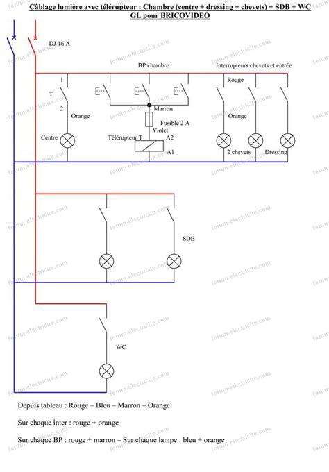 schema electrique chambre schéma électrique branchement éclairage chambres