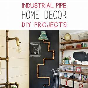 Industrial Pipe Home Decor DIY Projects - The Cottage Market