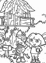 Coloring Pages Tree Treehouse Colouring Magic Boomhutten Kleurplaat Dora Explorer Fairy Fun Template Kleurplaten Village Scene Pdf Popular Zo sketch template