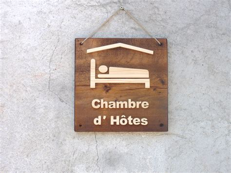 pancarte chambre pancarte logo chambre d 39 hôtes en bois
