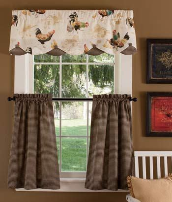 country kitchen valance colebrook tier curtains these cockerels must go in my 2921