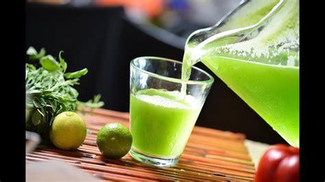 Agua de alfalfa con limón YouTube