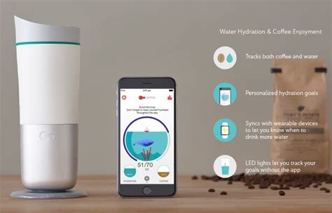 Ozmo Smart Cup Measures Water Intake To Keep You Hydrated (video)