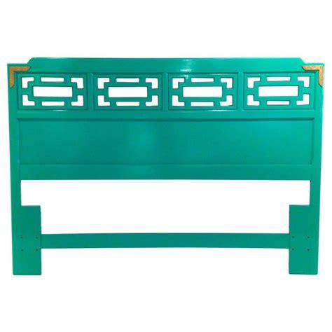 lacquered green queen fretwork headboard green queen