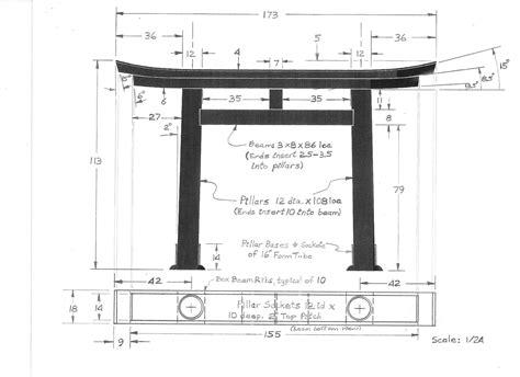 torii gate design ratios japanese torii gates