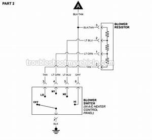 Blower Motor Circuit Wiring Diagram  1994