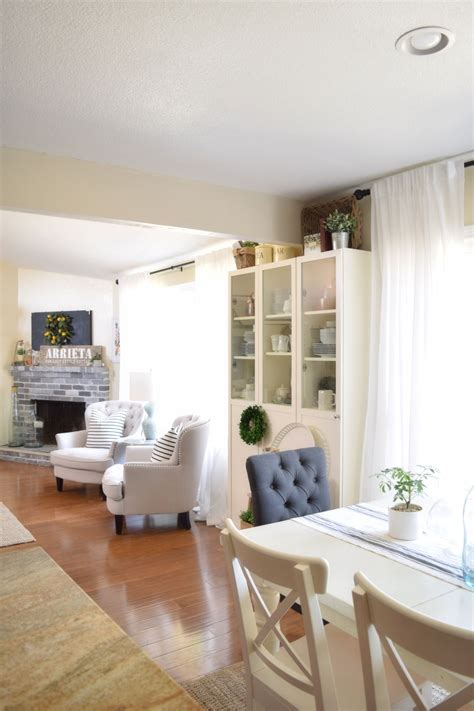 All About Our Family Room And Dining Room Curtains+ Ikea