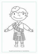 Colouring Scottish Coloring Pages Scotland Crafts Burns Night Activities Colour Boy Sheets Flag Kid St Map Robert Activity Robbie Andrews sketch template