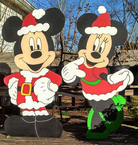 pc mickey mouse minnie mouse goofy pluto wood