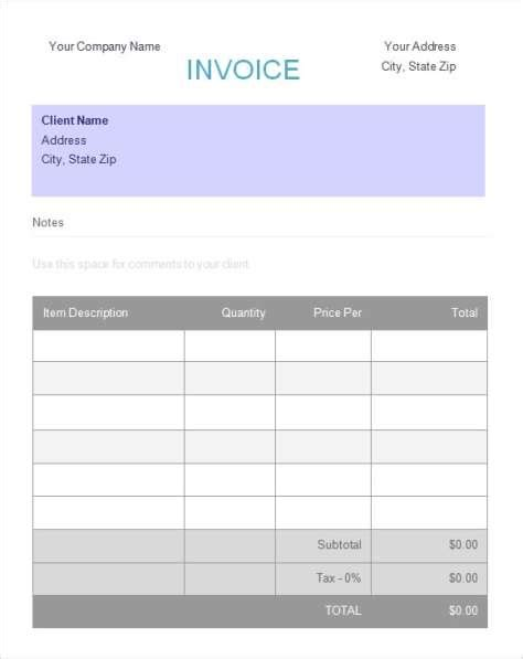 deposit invoice template printable word excel invoice