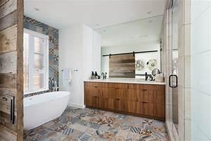 salle de bain avec des carreaux de ciment With salle de bain avec carreaux de ciment
