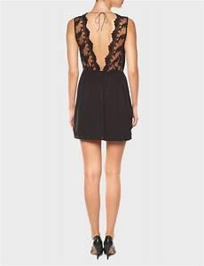 robe aphrodite robe noire courte dos nu en dentelle robe With robe courte décolleté dos nu