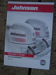 2003 Johnson 4  U0026 5 Hp R4 Rl4 Outboard Motor Owner Operator