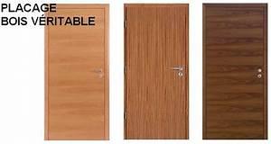 Placage Bois Pour Porte : portes d 39 int rieur placage bois v ritable ~ Dailycaller-alerts.com Idées de Décoration
