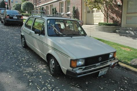 old volkswagen rabbit old parked cars 1981 volkswagen rabbit diesel and jensen