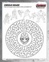 Avengers Marvel Coloring Maze Ultron Printable Sheets Printables Age Pages Activities Circle Mazes Print Puzzles Superhero Super Hero Rockinmama America sketch template
