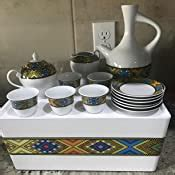 More than 713 ethiopian coffee ceremony set at pleasant prices up to 21 usd fast and free worldwide shipping! Amazon.com   Ethiopian/Eritrean Coffee Cups with Rékébot. Tilet Edition. Full Set. ጥለት ረከቦት & ስኒ ...
